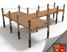 3D model Wooden pier