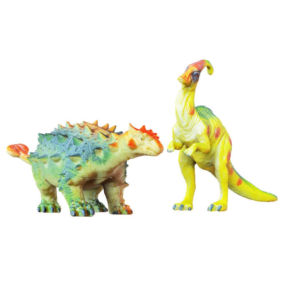 Two Toys Dinosaurs Parasaurolophus and Euplocephalus