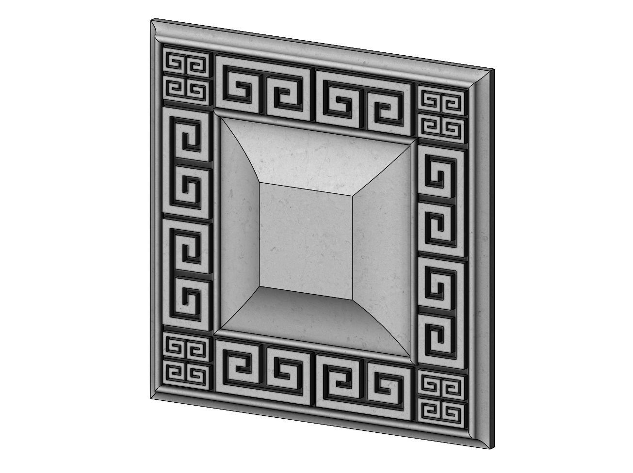 Greek key ceiling medallion and tile