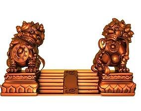 The lion statue 3D model