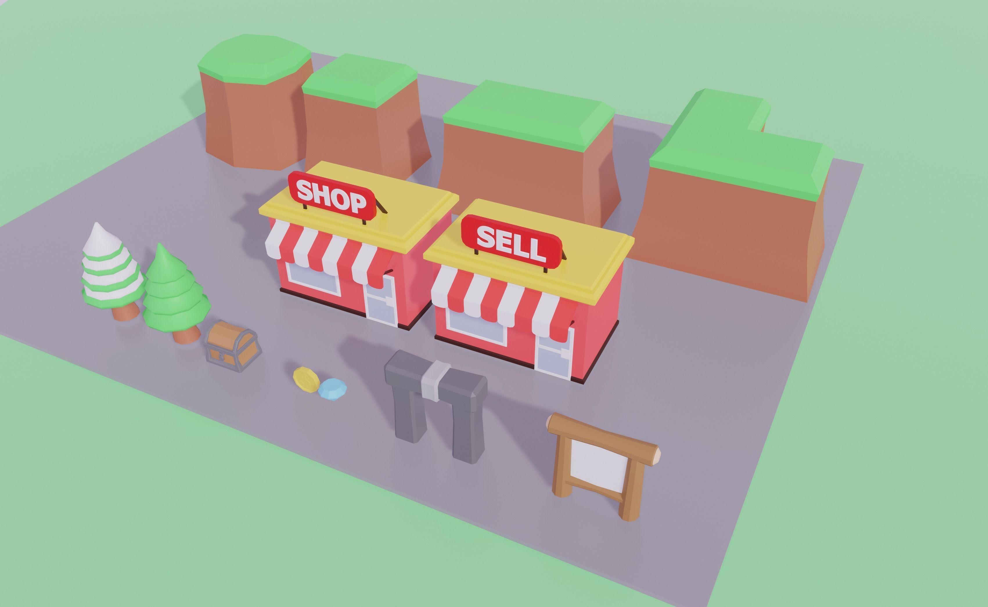 3D model Roblox Simulator Kit VR / AR / low-poly FBX BLEND