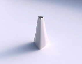 3D print model Vase puffy tipped triangle smooth