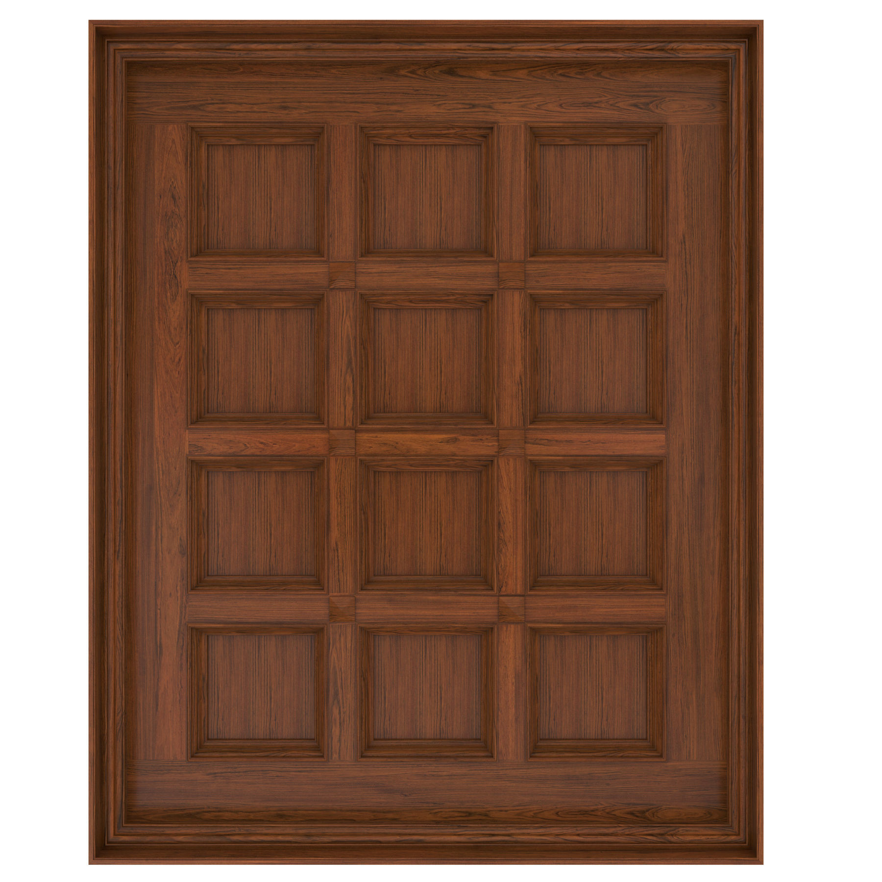 Classic wooden ceiling with caissons 01