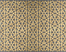 Lattice Arab panel 3D 1