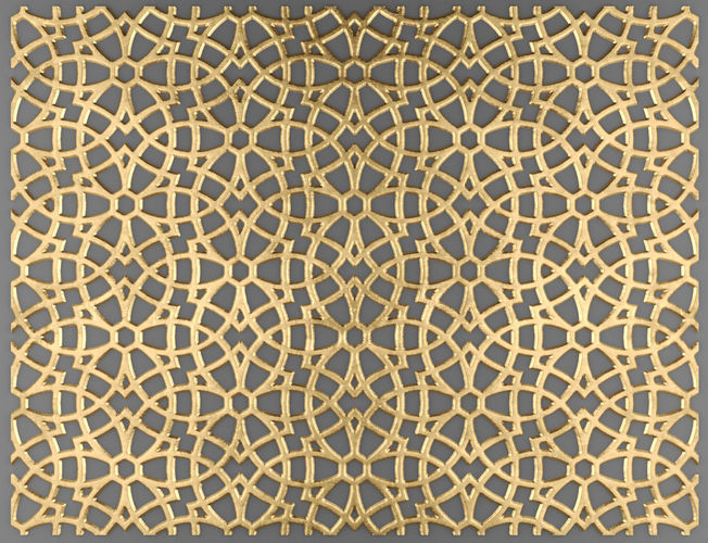 lattice arab panel 3d 1 3d model max obj mtl fbx unitypackage prefab 1