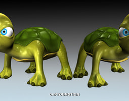 foo the turtle 3d asset game-ready