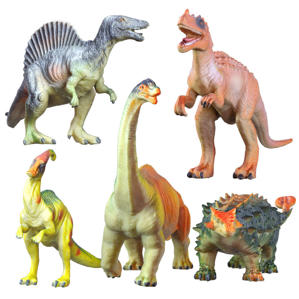 Collection Of Five Dinosaur Toys