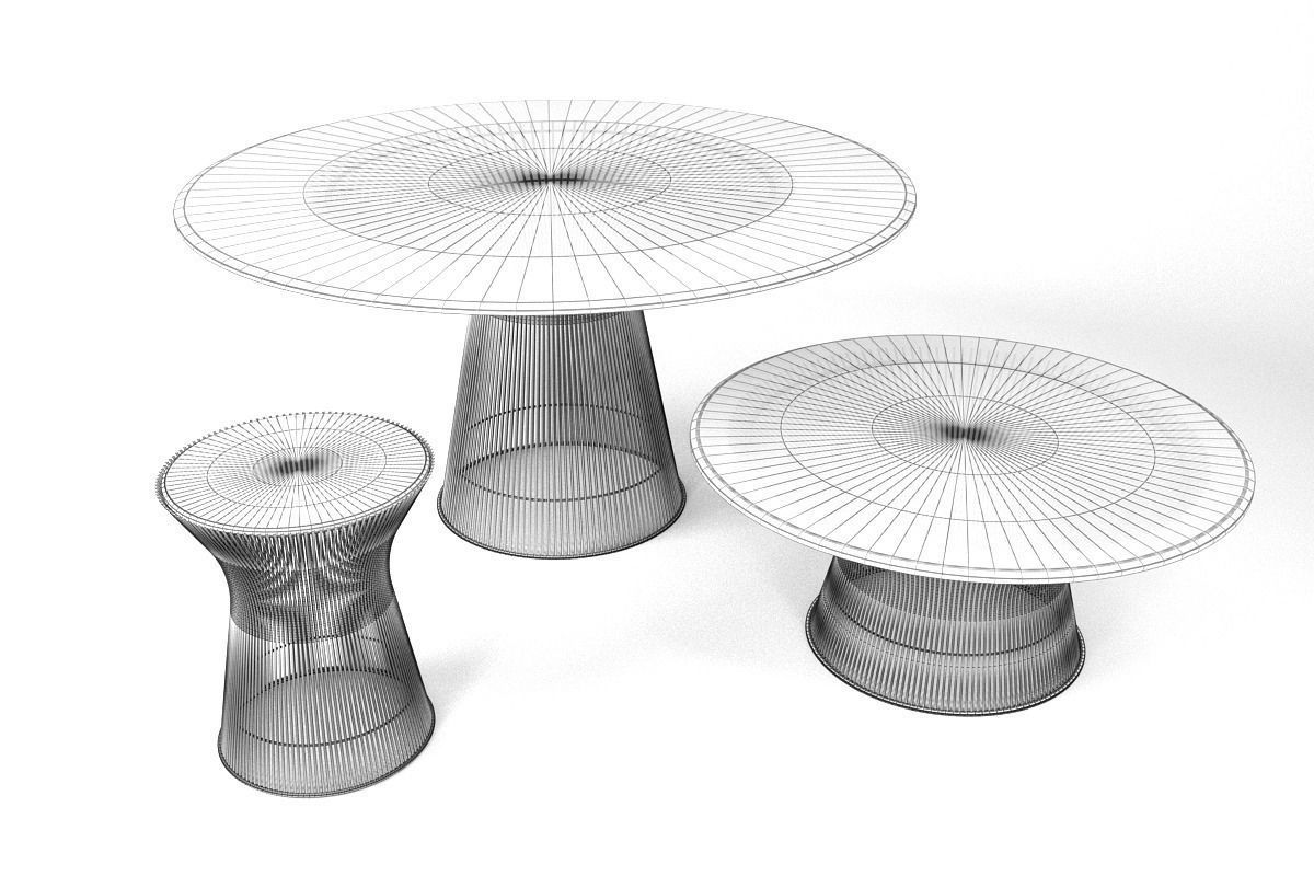 knoll platner coffee tables 3d cgtrader