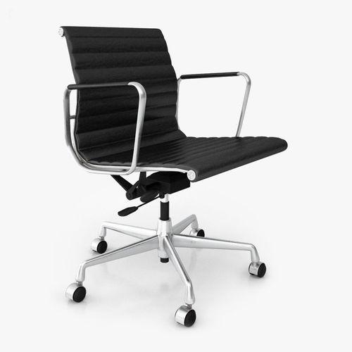 vitra aluminium office chair ea 117 3d model cgtrader. Black Bedroom Furniture Sets. Home Design Ideas