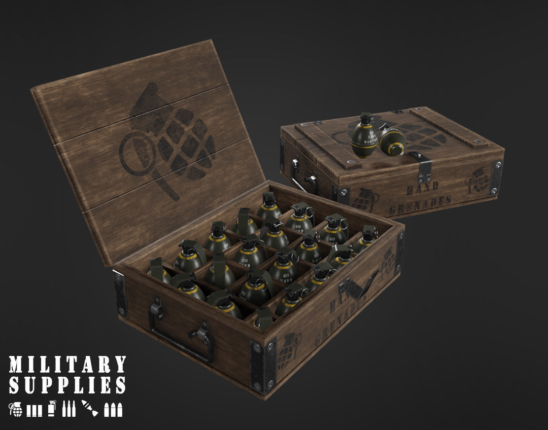 Military Supplies Pack - Grenade Boxes