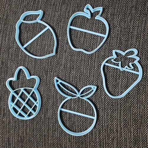 Fruits Apple Orange Pineapple Lemon Strawberry Cookie Cutter