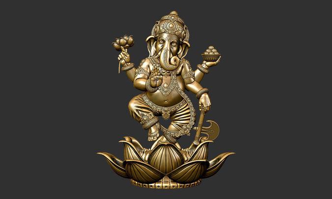 3d Lord Ganesha: Hinduism 3D Printable Model Ganesha