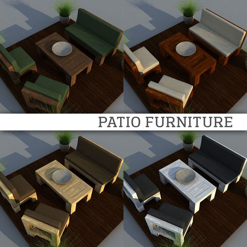 3d Patio Furniture Cgtrader
