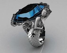Mermaid ring 3D print model