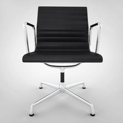 vitra aluminium chair ea 108 3d model max obj fbx 2 aluminium chair ea 108