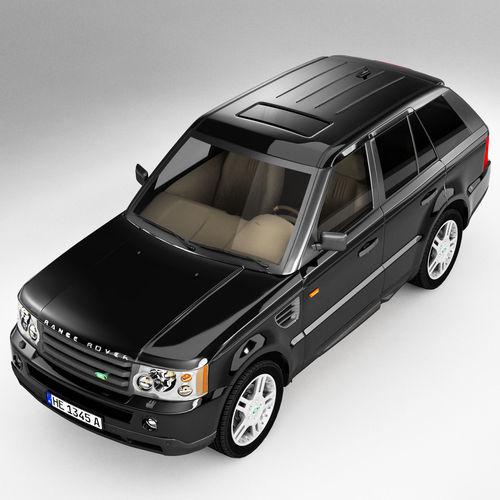 3D Model Range Rover SUV VR / AR / Low-poly MAX OBJ 3DS