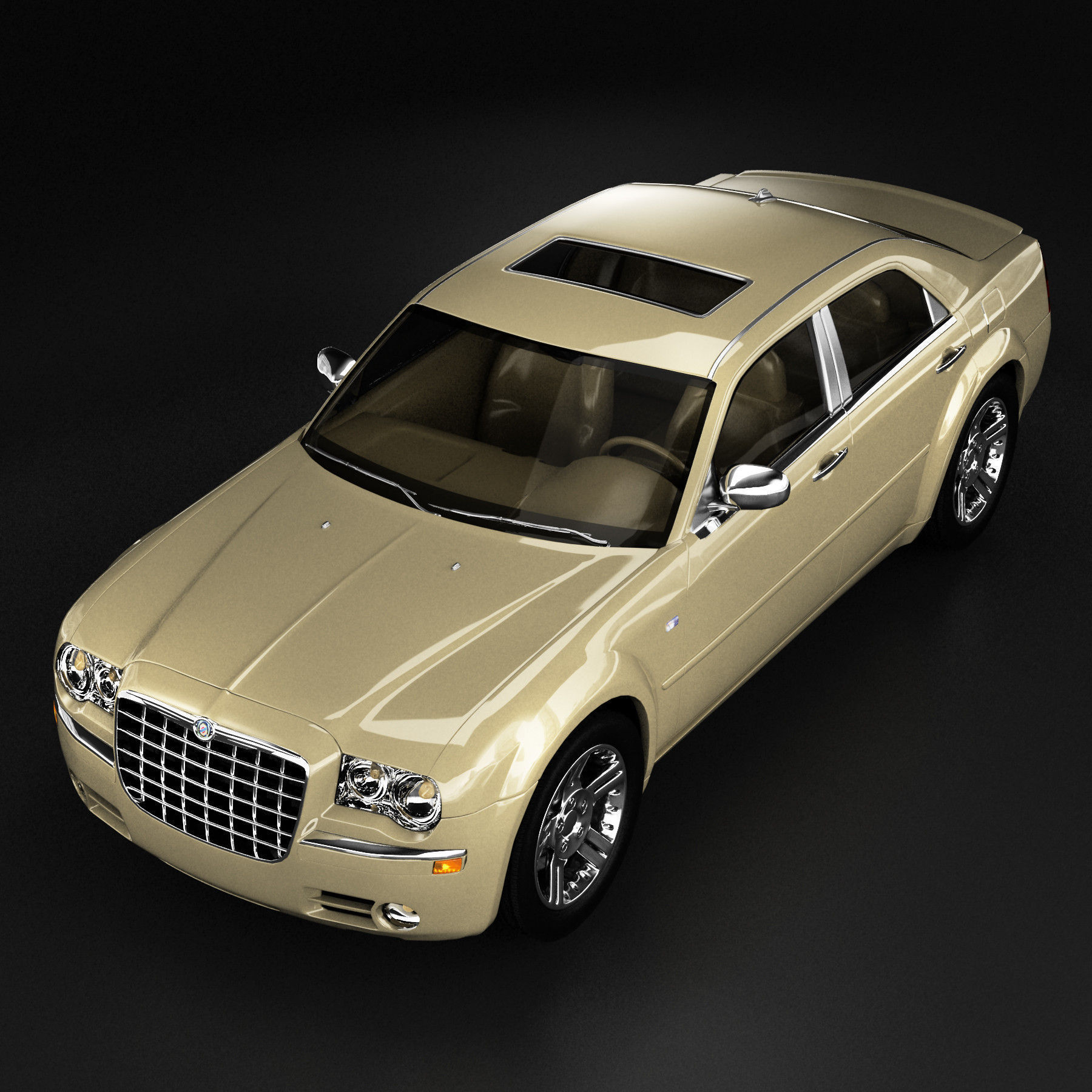 Chrysler 300 3D Model MAX OBJ 3DS FBX