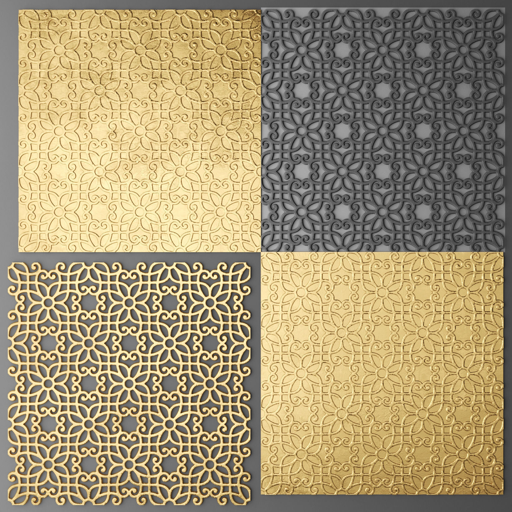 Lattice Arab panel 3D 9