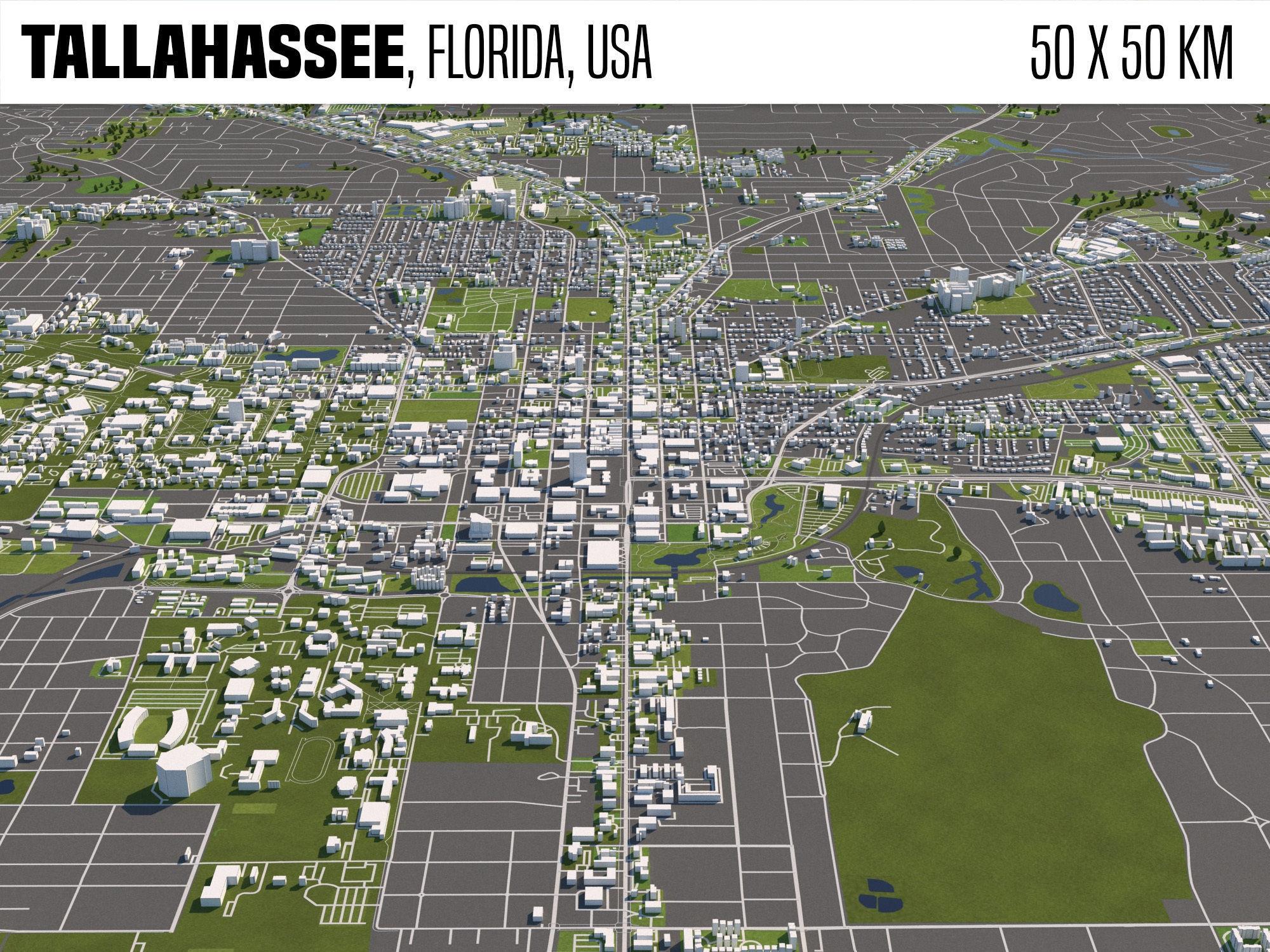 Tallahassee Florida USA 50x50km