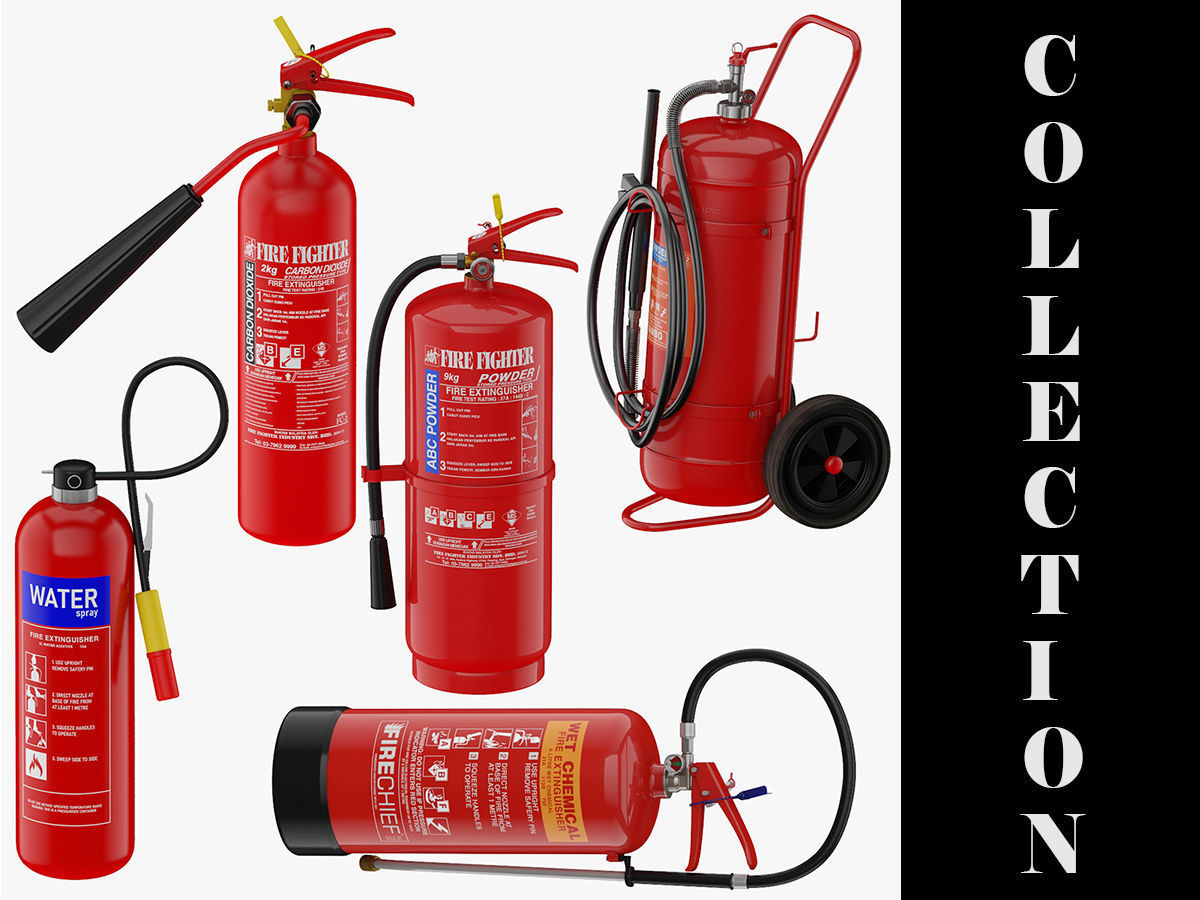 5 Fire Extinguishers Collection