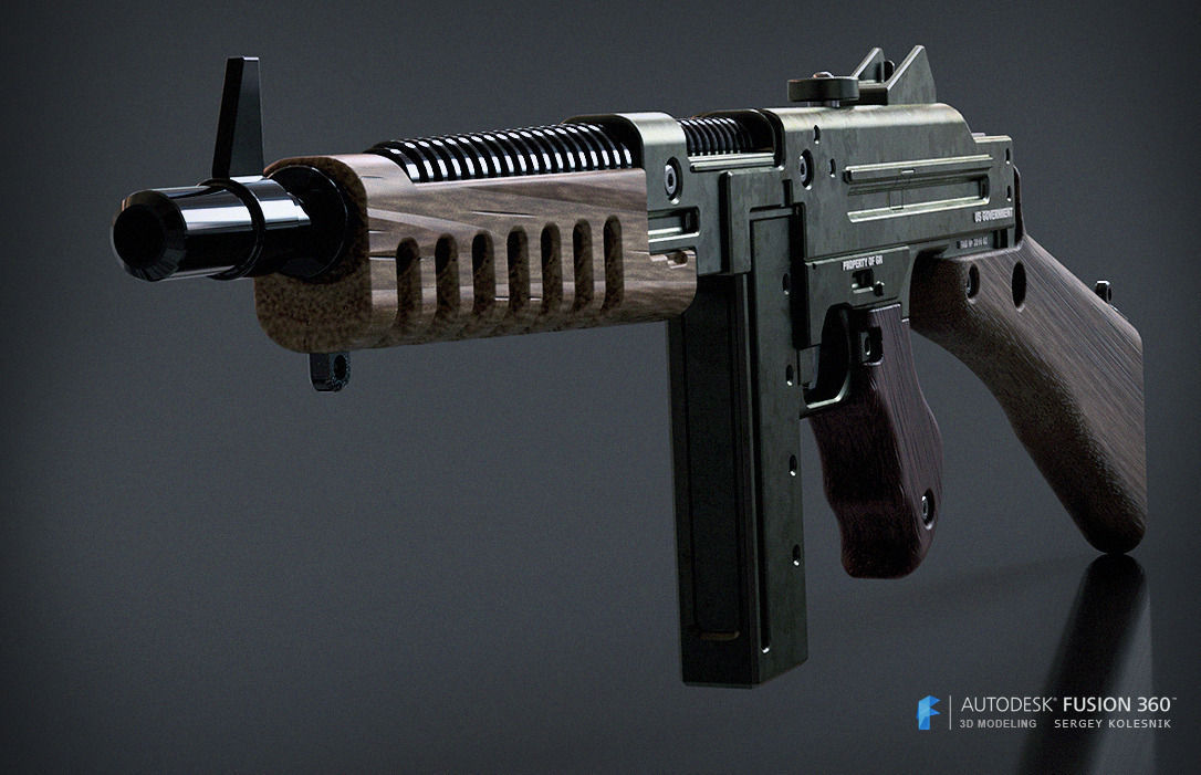 Wolfenstein The New Order Smg Free 3d Model 3d Printable