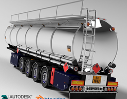 3D model Fuel Tanker Chromed