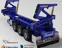 hammar self loader container trailer 3d