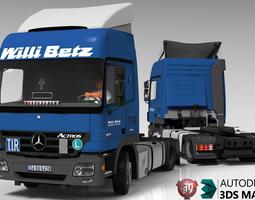Mercedes Benz Actros 1844 Lowdeck 3D model