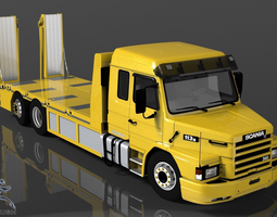 scania 113h recovery 3d model