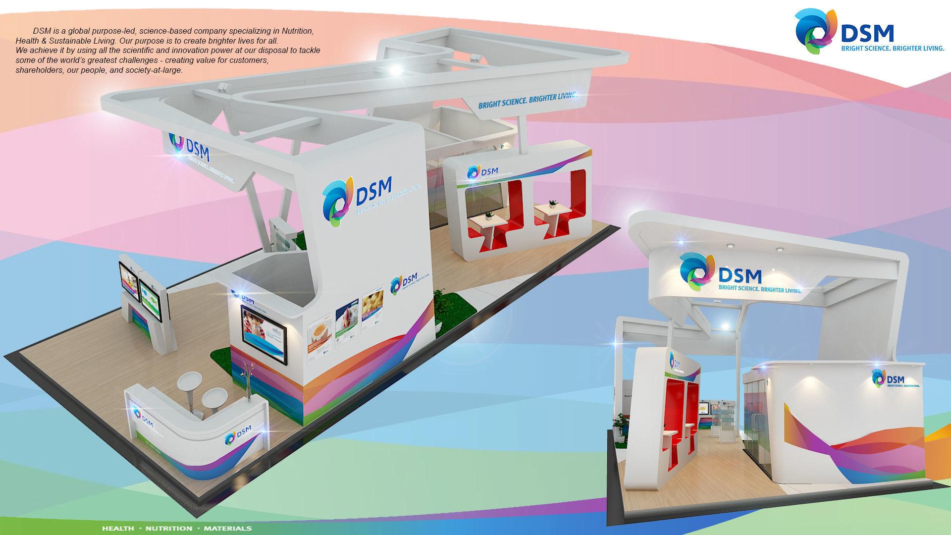 Booth DSM design size 15 x 6 m 90 sqm