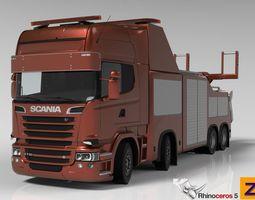 3d model scania r730 streamline recovery wrecker