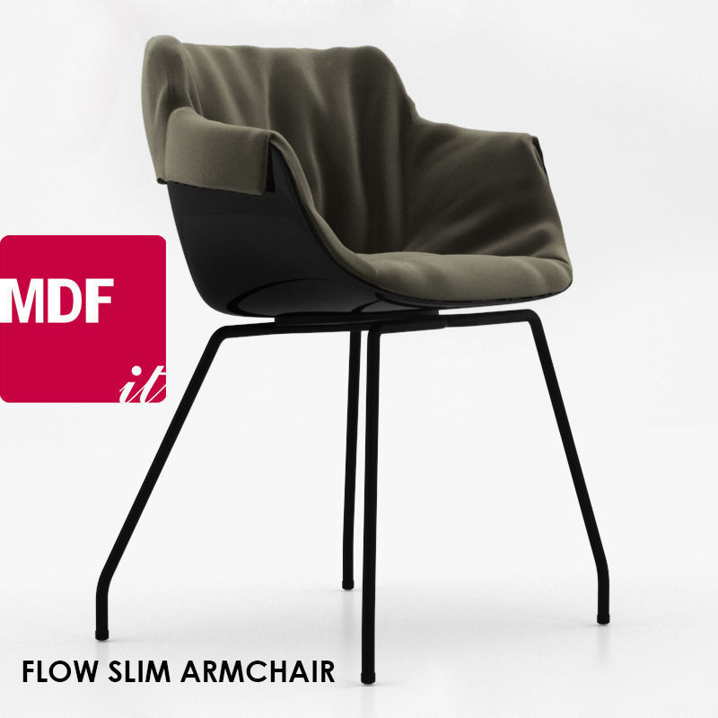 mdf italia flow slim armchair 3d model max. Black Bedroom Furniture Sets. Home Design Ideas
