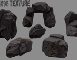Rock Set 3D asset realtime