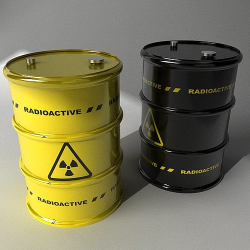 two barrels with radioactive materials 3d model max obj mtl 3ds mat 1