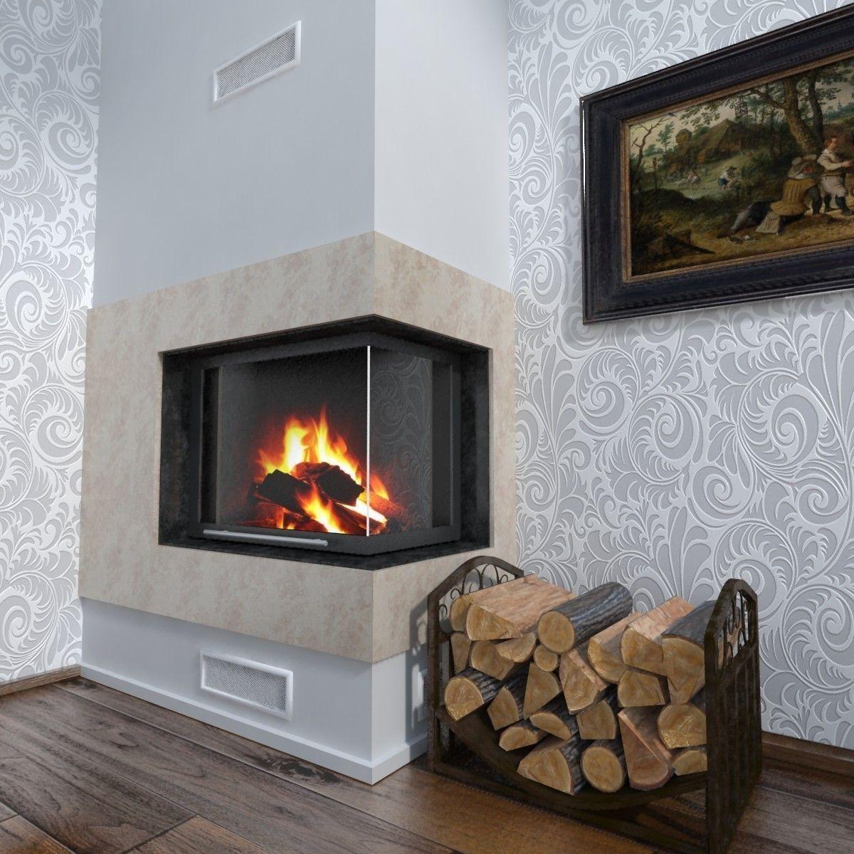 fireplace corner 3d model max obj 3ds fbx mtl cgtrader