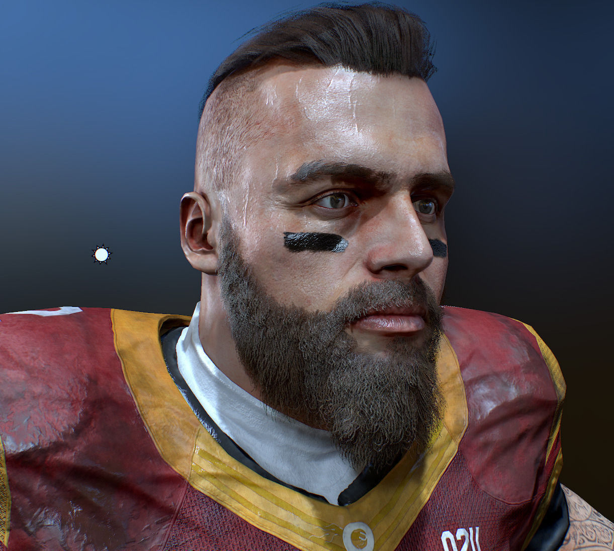 American Football Player High Details