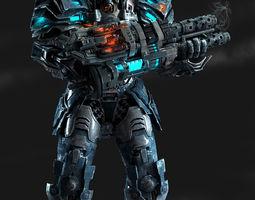 3D Scifi soldier
