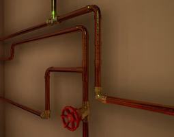 3d asset pipes and ventilations VR / AR ready