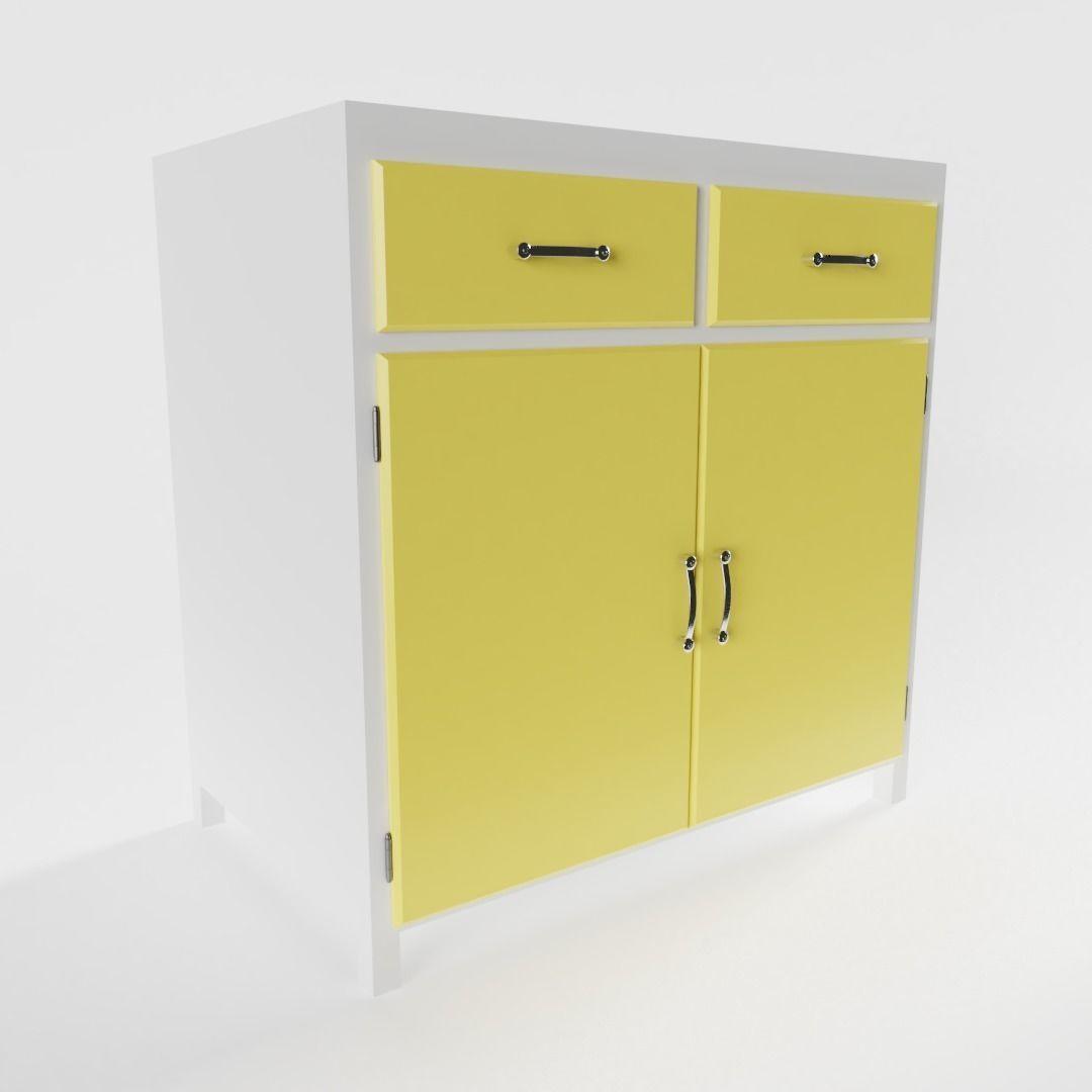 Vintage Kitchen Cabinet 3d Model Cgtrader