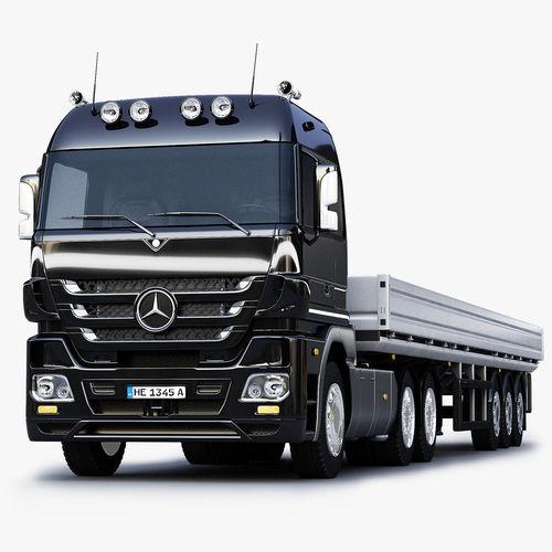 3d model mercedes benz actros trailer truck cgtrader for Mercedes benz truck models