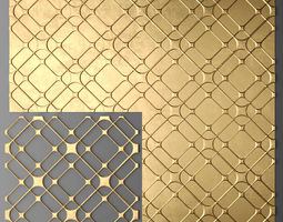 panel lattice grille 14 3d model max obj fbx