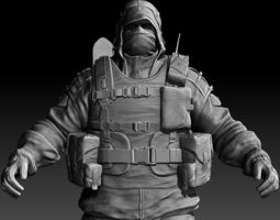 3D Post-Apocalyptic Character Zbrush HD