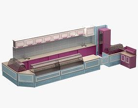 3D model low-poly Bar Set 005