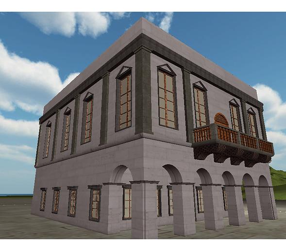 neoclassical building 3d model fbx 1