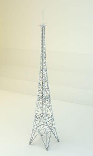 radio tower 3d model low-poly obj mtl lwo lw lws 1