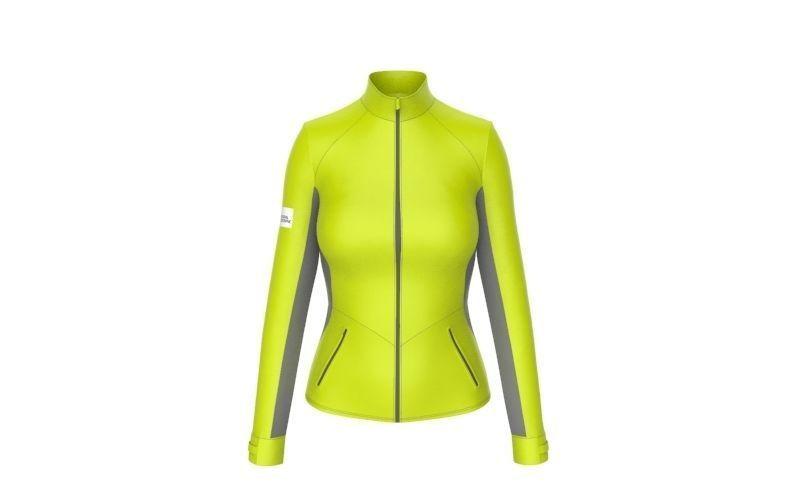 Women sport jacket with keyshot scene