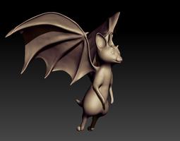 bat sculpt 3d model obj