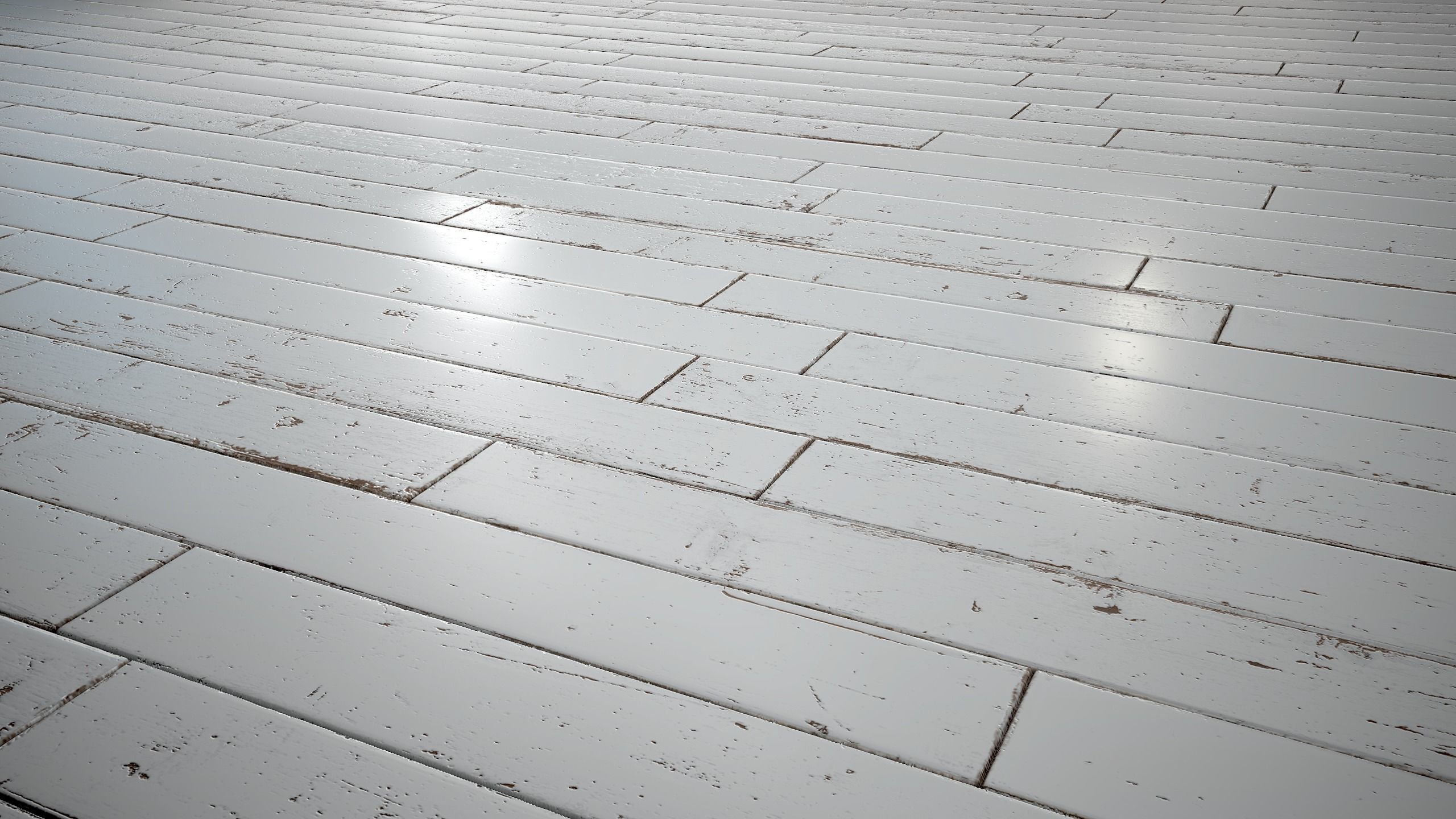 White Painted woodstrip parquet - PBR textures