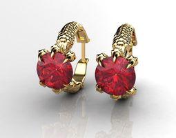 diamond earrings 3D printable model Earrings