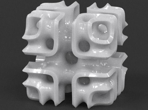 cubic lattice sculpture 3d model stl 1